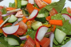 Fresh salads are one of the best ways to enjoy the garden's bounty this time of year