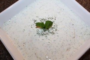 Tzatziki sauce - a light alternative to creamy vegetable dips
