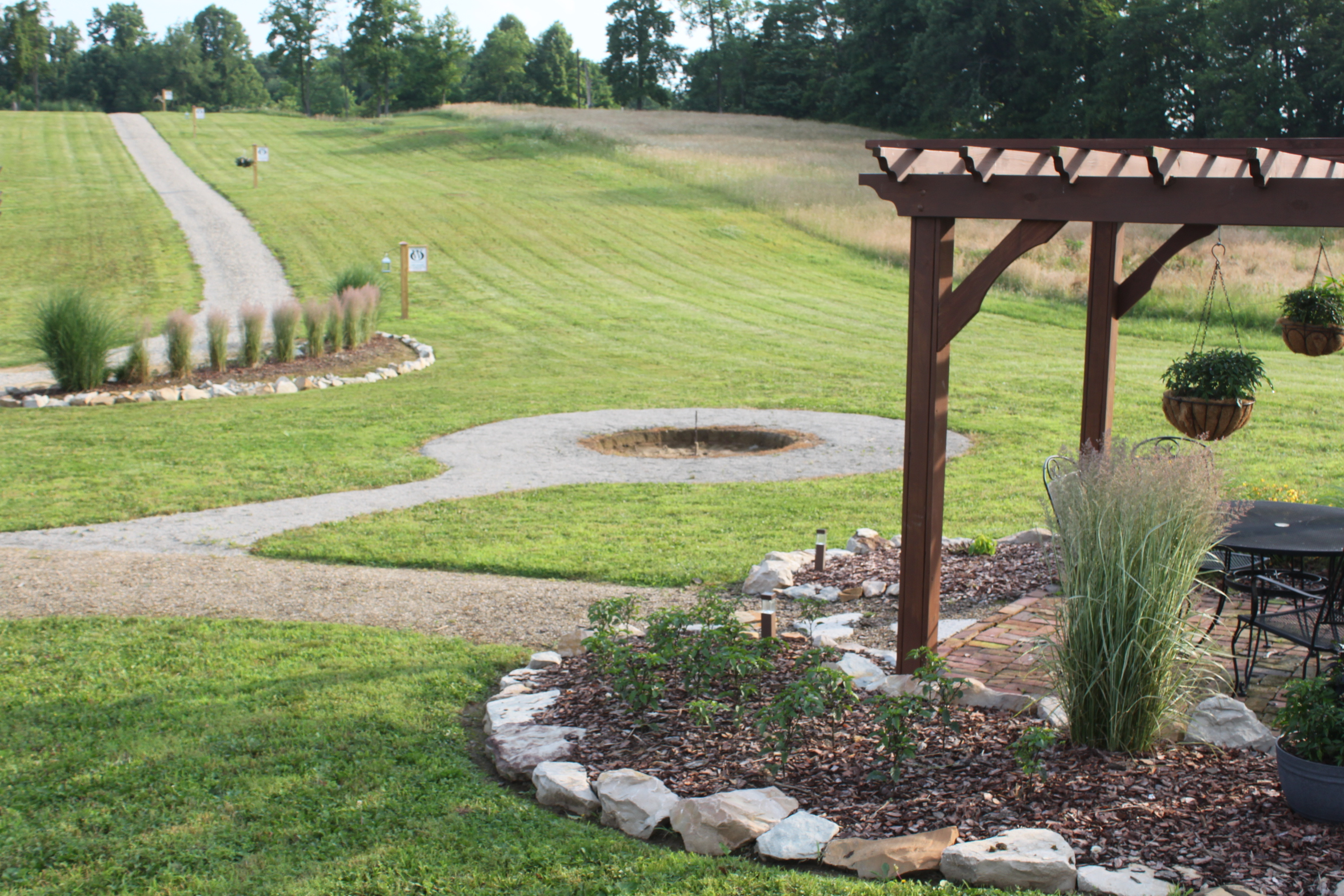 The stone firepit project begins creating an inexpensive for Gravel around fire pit