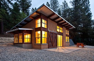 The inspiration for the design of our future house came from viewing this one from strawbale.com.