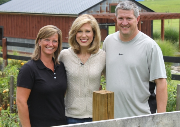 Kristyn Hartman from WBNS 10TV visits the farm for a story