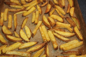 It's important to allow enough air circulation around each fry to allow them to become crispy