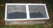 Our cold frame ready for fall planting