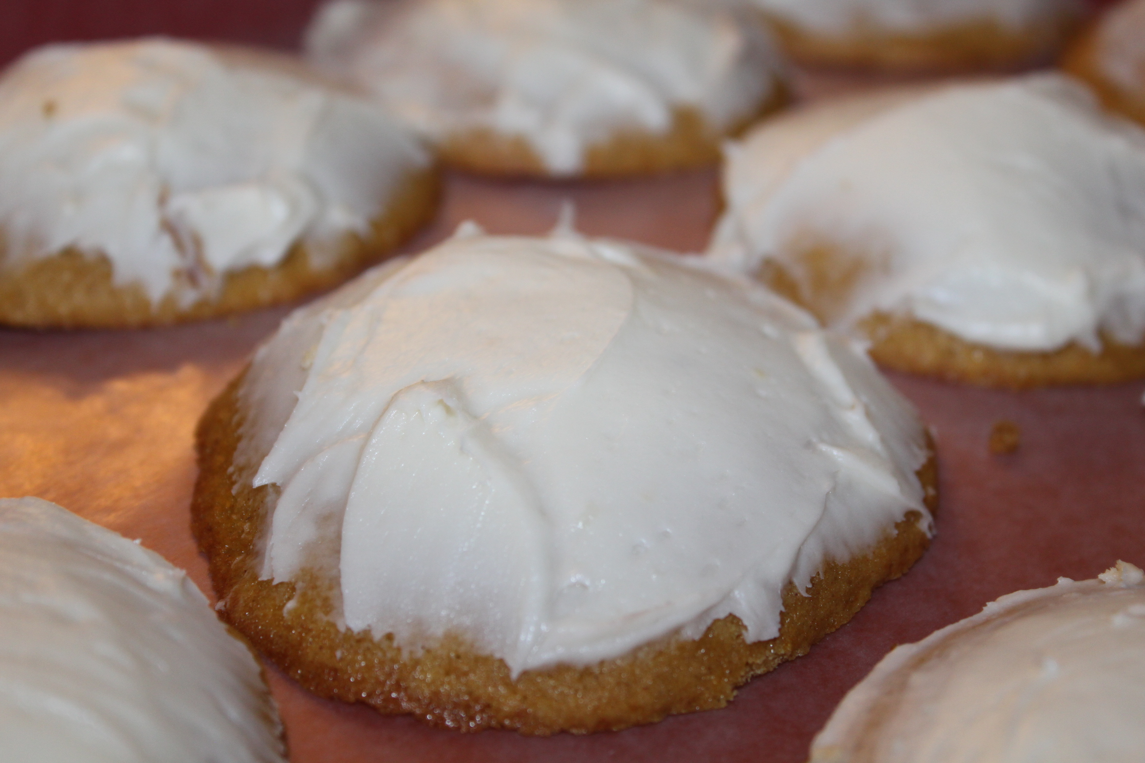 Pumpkin Cookies with Cream Cheese Icing Recipe – Made With ...