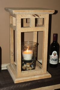 "20"" tall rustic wood lantern"