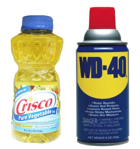 A little vegetable oil or WD-40 on the metal portions of your hand tools will keep them from rusting over the winter