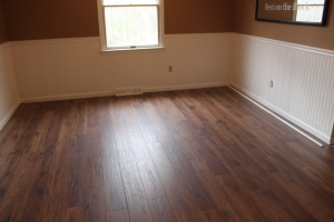 The finished floor and trim completed!