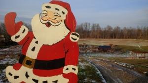 Santa at his new place at the farm
