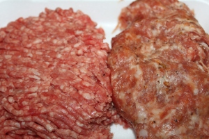 Using ground beef and pork gives the perfect amount of fat to flavor the meatballs.