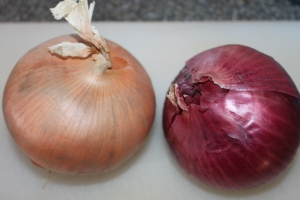 I prefer to use an even combination of yellow and red onions.