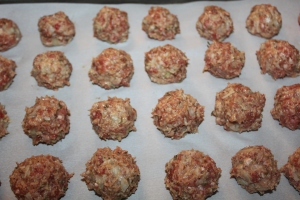 Use your hands to roll into meatballs - keeping a consistent size.