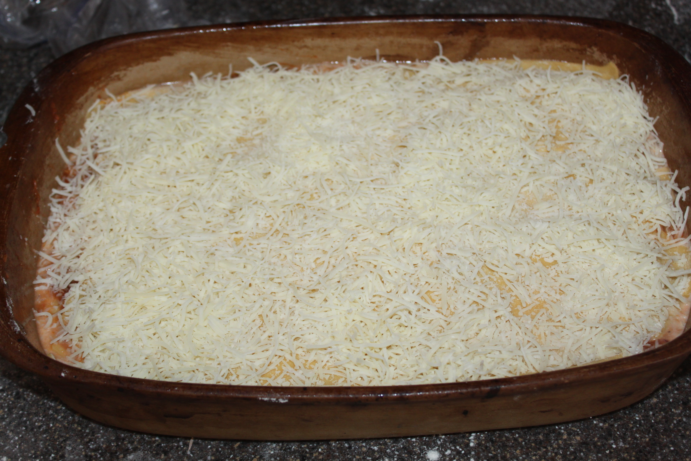 Top layer of cheese - can you ever have too much cheese?