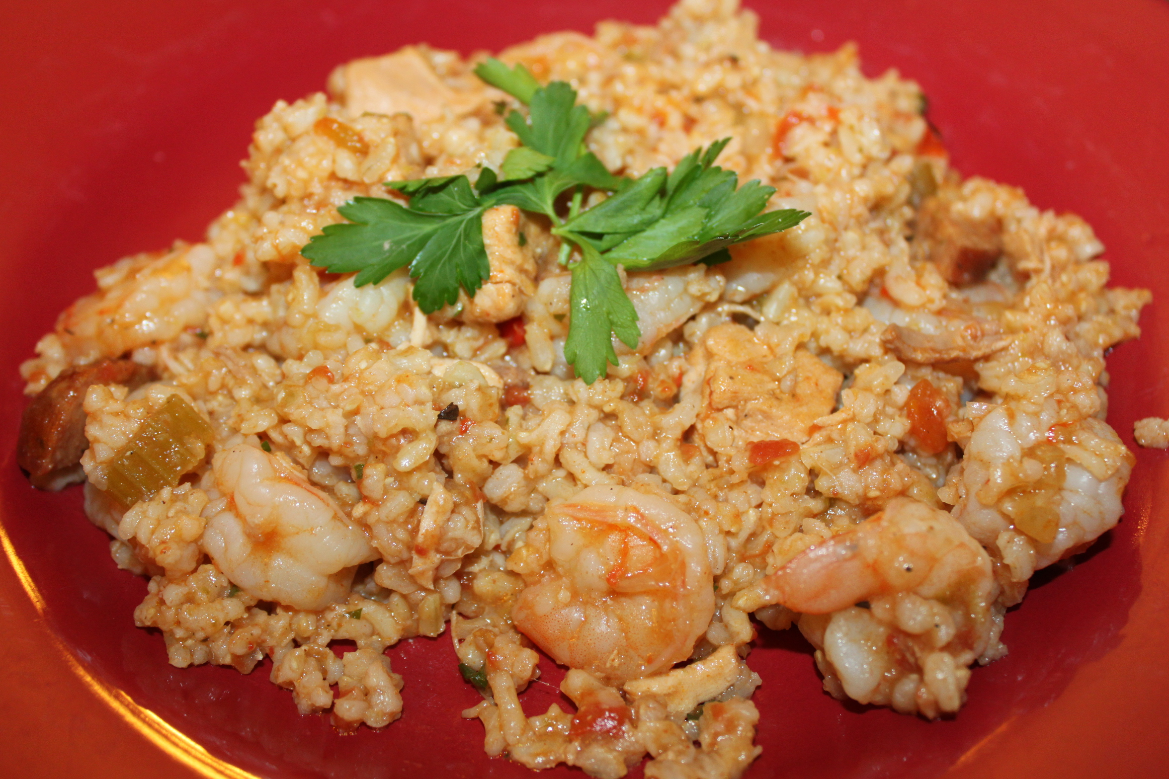 Chicken and Shrimp Jambalaya Recipe - Celebrating Fat Tuesday - Old ...