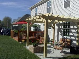 One of our pergolas now up in Louisville