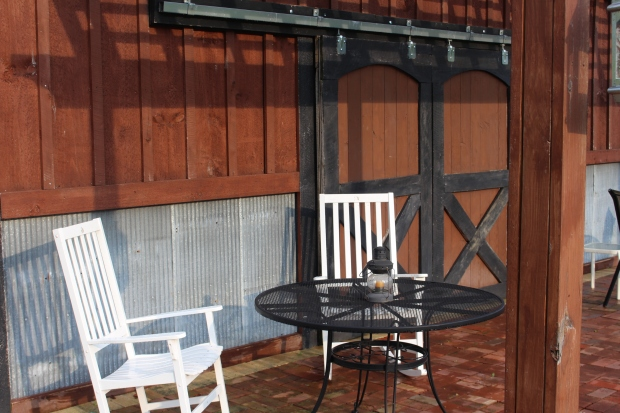 The porch pergola remains one of our favorite areas to relax after a day's work at the farm