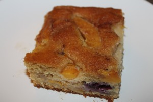 Peach and Blueberry Coffee Cake - great to enjoy with a cup of coffee!